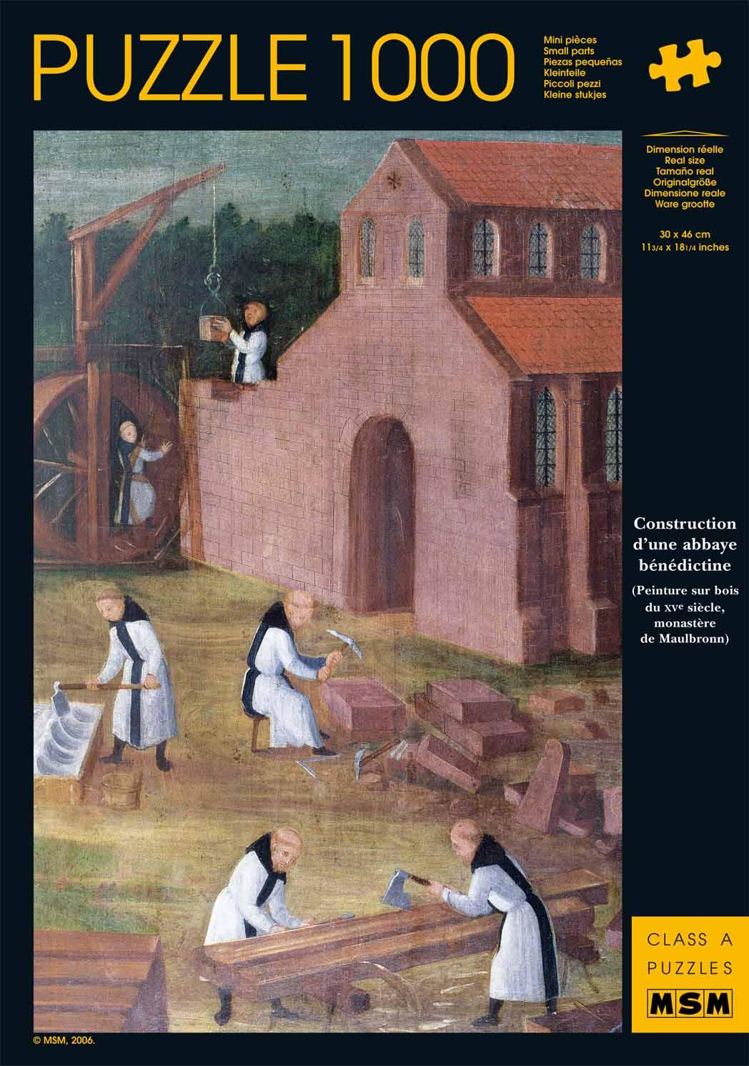 Construction d'une abbaye