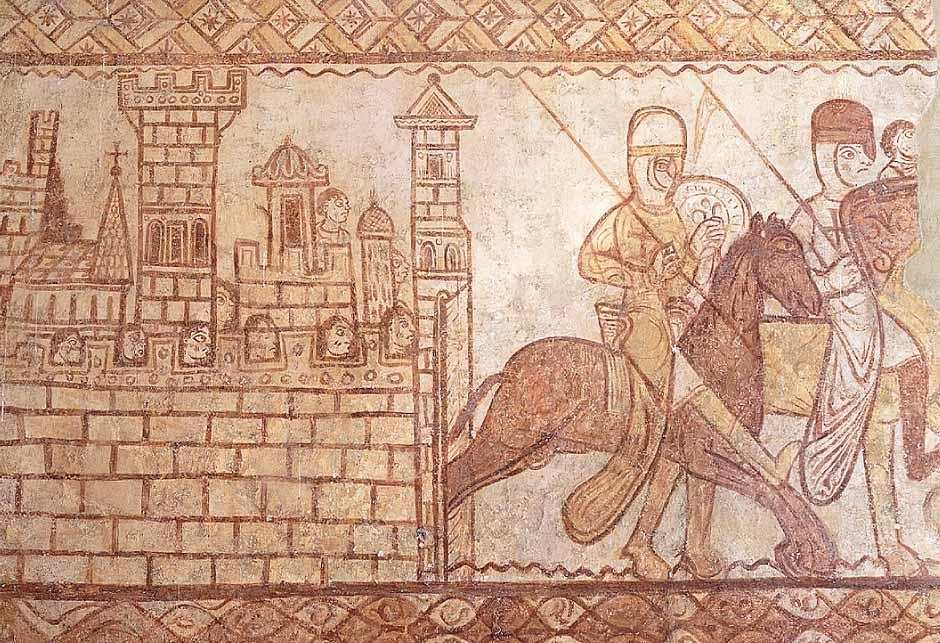 Le départ des chevaliers