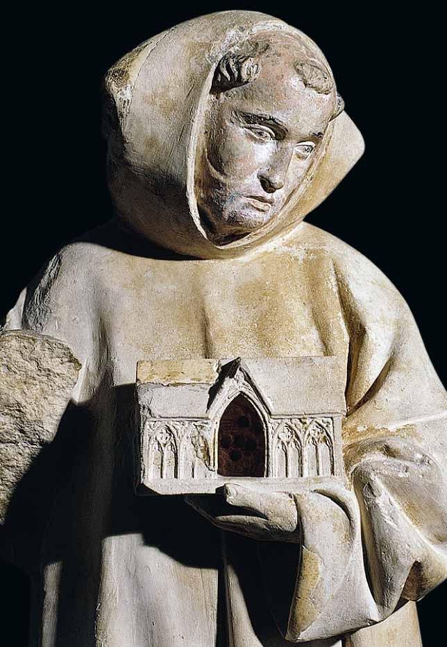 Saint Bernard portant la chapelle de Clairvaux