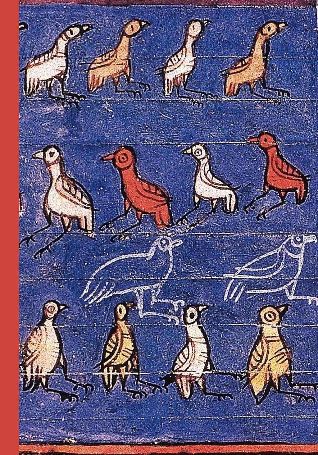 Enluminure représentant des oiseaux