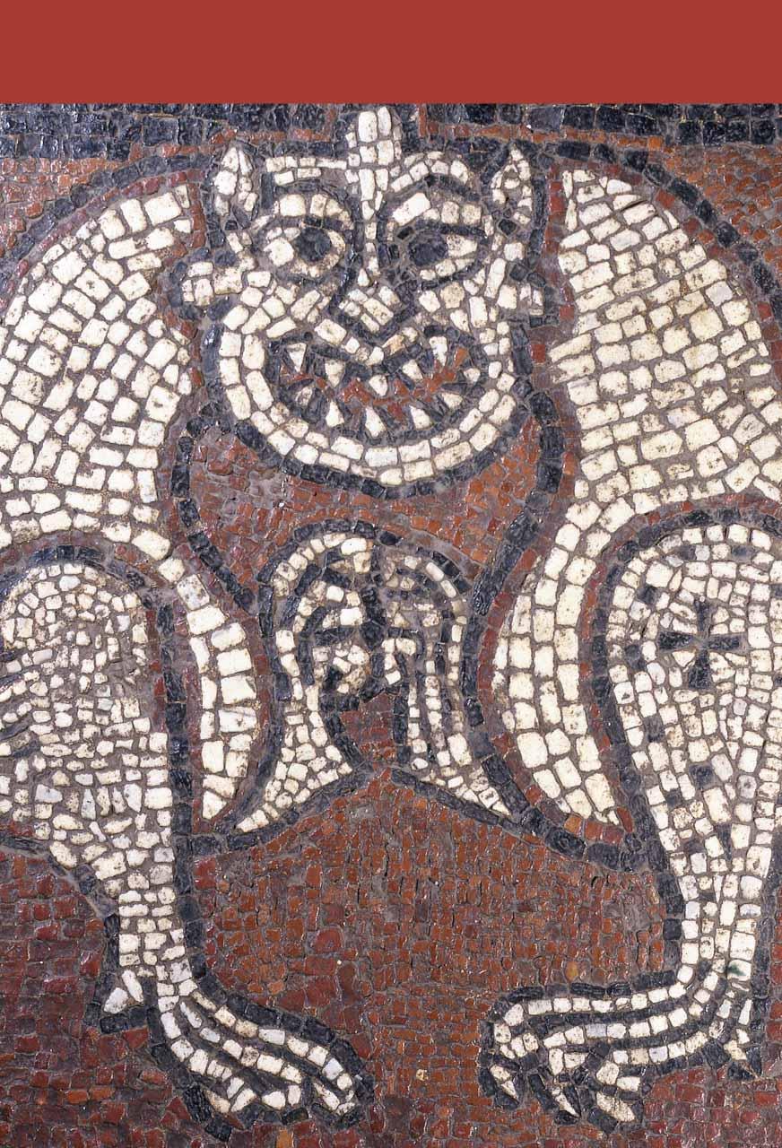 Pavement mosaïqué de l'église de Ganagobie