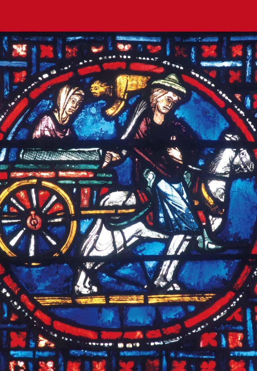 Vitrail du transfert des reliques de saint Étienne