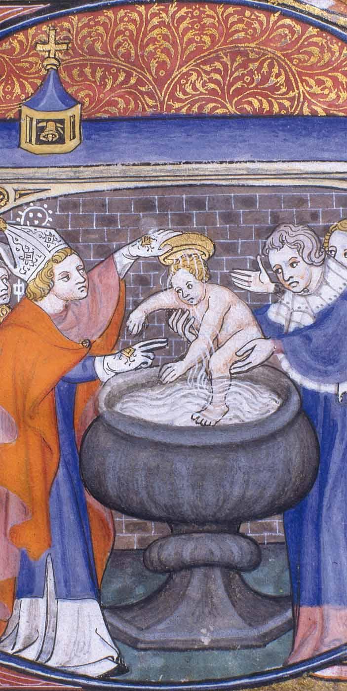 Le baptême d'un enfant